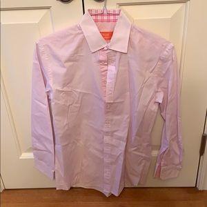 Tallia pink men's buttons down shirt